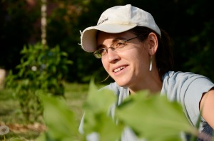Katie LaJeunesse Connette says she enjoys the simple, unassuming way she gathers knowledge about gardening when she attends Kilgore's Community Garden work days.